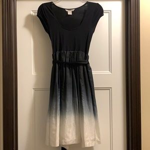 Black and white ombré dress